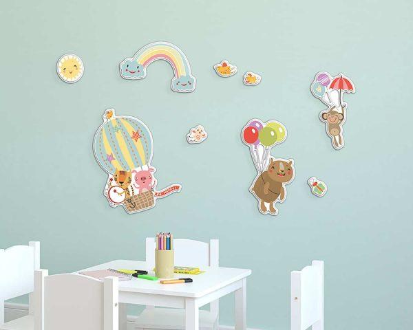 Ango 18008 - Happy Animals αφρώδη αυτοκόλλητα τοίχου
