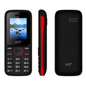 NSP 1800DS BLACK / RED (Ελληνικό Μενού) Κινητό τηλέφωνο Dual SIM με Bluetooth και οθόνη 1.8″