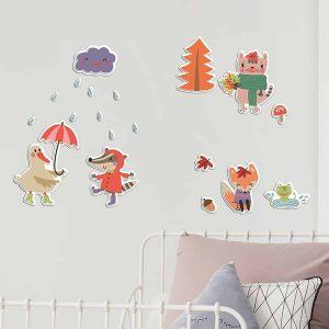 Ango 18010 - Rainy Day αφρώδη αυτοκόλλητα τοίχου