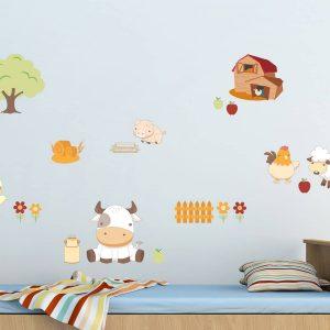 Ango 18101 - Baby Farm διακοσμητικά αυτοκόλλητα τοίχου Large μέγεθος