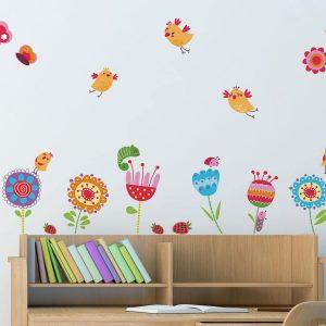 Ango 18102 - Birds and Flowers διακοσμητικά αυτοκόλλητα τοίχου Large μέγεθος