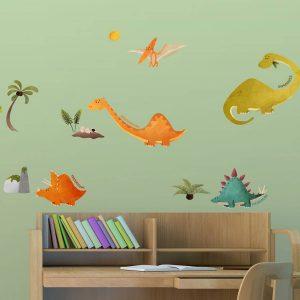Ango 18104 - Dinosaurs διακοσμητικά αυτοκόλλητα τοίχου Largeμέγεθος
