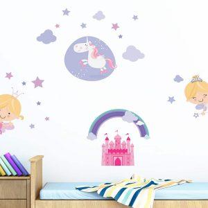 Ango 18106 - Happy Fairies διακοσμητικά αυτοκόλλητα τοίχου Largeμέγεθος