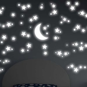Ango 18109 - Starry Night φωσφορίζοντα αυτοκόλλητα τοίχου Large μέγεθος