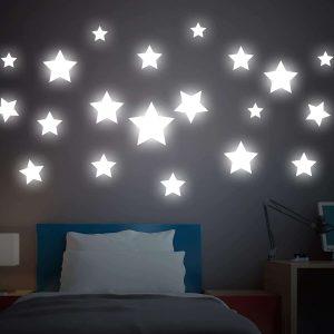 Ango 18110 - Big Stars φωσφορίζοντα αυτοκόλλητα τοίχου - Large μέγεθος