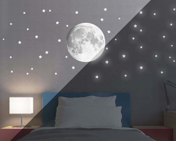 Ango 18112 - Moon φωσφορίζοντα αυτοκόλλητα τοίχου Large μέγεθος