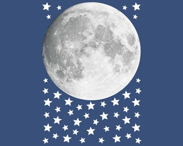 """Καλωσορίστε το παιδί σας σε ένα δωμάτιο πλημμυρισμένο από μαγεία με αυτά τα φωσφορίζοντα στο σκοτάδι διακοσμητικά. Διακοσμήστε με φαντασία σε ελάχιστο χρόνο αποτελεσματικά και οικονομικά δίδοντας μια προσωπική """"πινελιά"""" στο δωμάτιο του παιδιού σας. Τα Moon φωσφορίζοντα αυτοκόλλητα τοίχου Large είναι εξαιρετικά εύκολα στην τοποθέτησή τους με δυνατότητα επανατοποθετήσεως χωρίς ζημιές."""