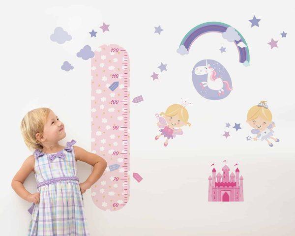 Ango 18113 - Fairies διακοσμητικά αυτοκόλλητα τοίχου με υψομετρητή σε Large μέγεθος