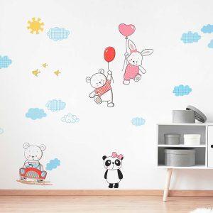 Ango 18307 - Funny Bears διακοσμητικά αυτοκόλλητα τοίχου XL μέγεθος