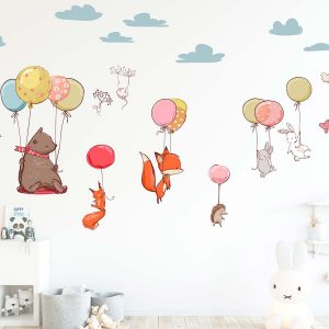 Ango 18308 - Flying Animals διακοσμητικά αυτοκόλλητα τοίχου XL μέγεθος