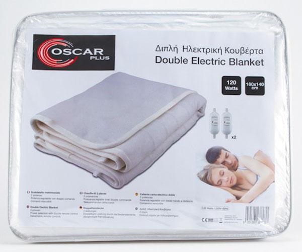 Ηλεκτρικό Υπόστρωμα-Κουβέρτα OSCAR Plus Polyester Διπλή  TX-160x140