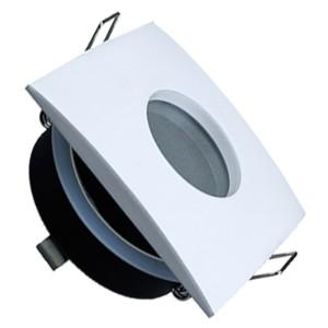 195-52415-Σποτ Χωνευτό V-Tac 3615 για GU10 και MR16 Tετράγωνο Λευκό IP 54 με Γυαλί Ματ