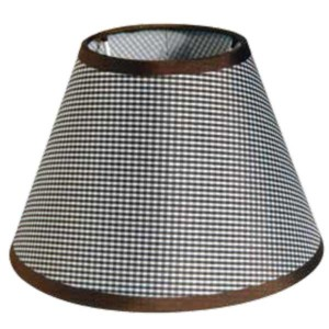 195-52483-Καπέλο Ø25 Καρό Καφέ Ύφασμα CL-25-KB ARlight