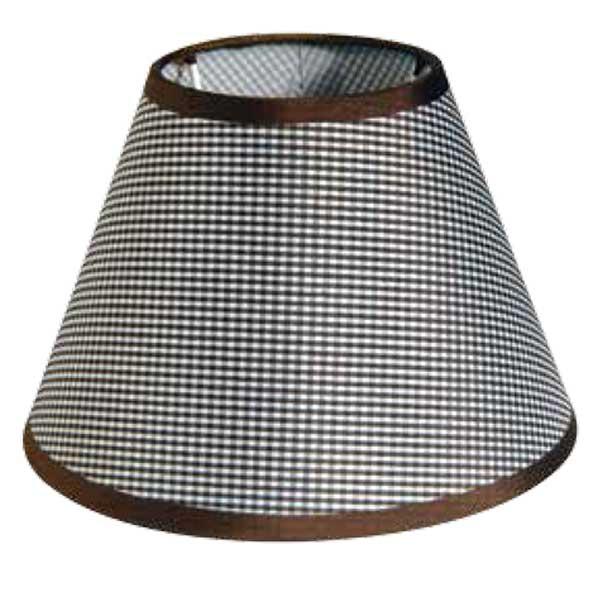 195-52492-Καπέλο Ø20 Καρό Καφέ Ύφασμα CL-20-KB ARlight