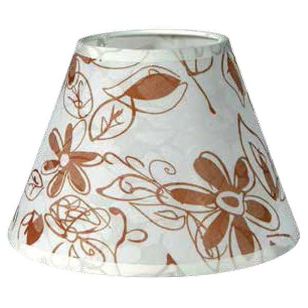 195-52494-Καπέλο Ø20 Λουλούδια Μπεζ Ύφασμα CL-20-FB ARlight