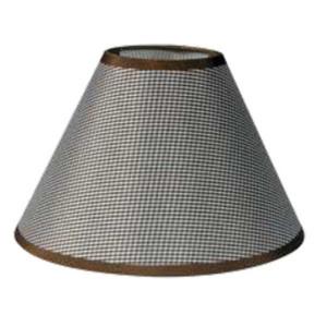 195-52497-Καπέλο Ø14 Καρό Καφέ Ύφασμα CL-14-KB ARlight
