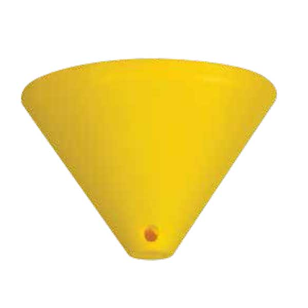 195-52514-Ροζέτα Κίτρινη Πλαστική DS-002-YL ARlight