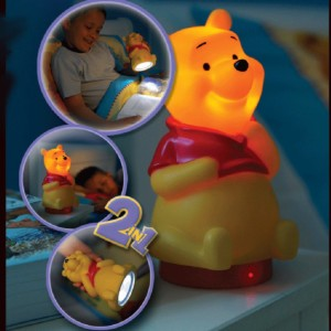 195-52549-Winnie the Pooh παιδικό φωτιστικό κομοδίνου & φακός 2 σε 1 LED 65102
