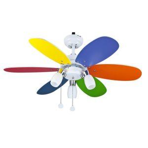 Παιδικός Ανεμιστήρας Οροφής με Φως Χρωματιστός 20-0076-51-188