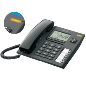 Τηλέφωνο Επιτραπέζιο με Αναγνώριση Alcatel T-76 Μαύρο