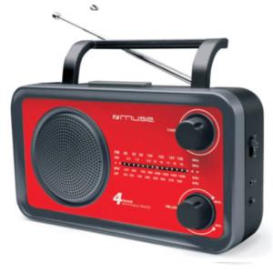Ραδιόφωνο Muse M-05RED Μπαταρίας-Ρεύματος Αναλογικό