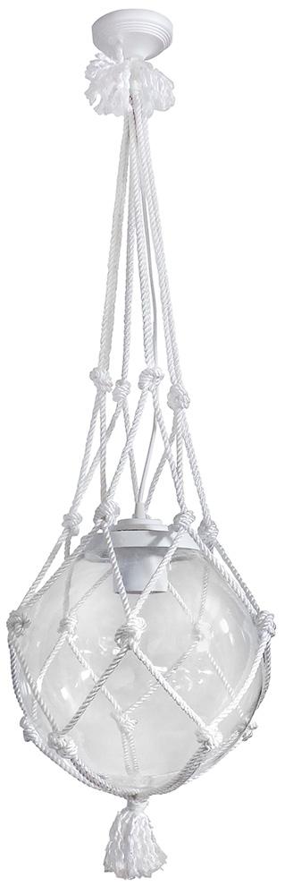 Φωτιστικό Μπάλα Κρεμαστή Διάφανη με Σχοινί Net-30 ROPE
