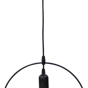 Φωτιστικό KYKLOS Μεταλλικός Κύκλος Φ32 Κρεμαστό Μαύρο