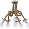 Φωτιστικό 5Φ NO PLEX UT-WHITE Μεταλλικό Λευκό με Σχοινί