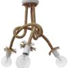 Φωτιστικό 3Φ NO PLEX UT-WHITE Μεταλλικό Λευκό με Σχοινί