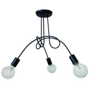 Φωτιστικό οροφής Μεταλλικό PLEX 3Φωτο Μαύρο