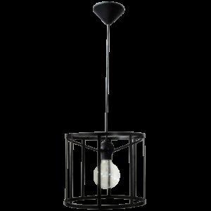 Φωτιστικό CAGE-02 1/Φ PENDEL BLACK