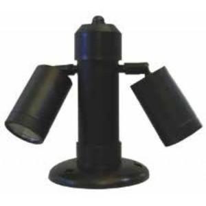205348-350-Κολωνάκι Φωτιστικό Εδάφους HERONIA C-01 EB KEY 2L BLACK 20cm