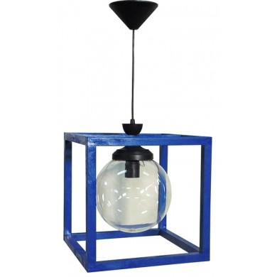 Φωτιστικό Wooden Cube FUN-15 Φ20 1/Φ BLUE