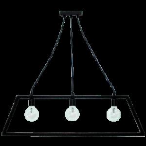 Φωτιστικό Wood FUN-20C 3/Φ BLACK