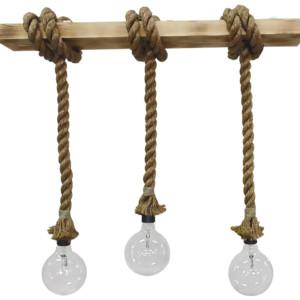 Φωτιστικό Ράγα με σχοινί Manila Rope MR-01 RAGA DOWN 3L