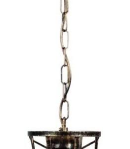 Φωτιστικό CAGE-01 CHAIN 1L Bronze-Μπρονζέ