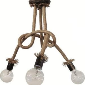 Φωτιστικό οροφής PLEX 3φωτο με Σχοινί