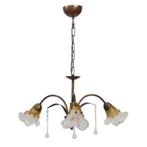 20815310-469-Φωτιστικό κρεμαστό 5φωτο Bronze Νέα ITHAKI 5L με Κρύσταλλα