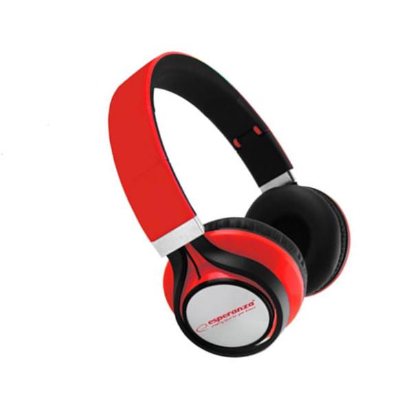 Ακουστικά Stereo Audio Esperanza EH-159R 3.5mm Κόκκινο Free Style