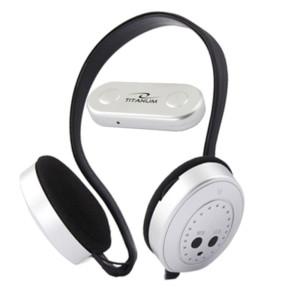 ESPERANZA Ακουστικά Ασύρματα με Δέκτη Ράδιο FM TITANUM SWING Ασημί