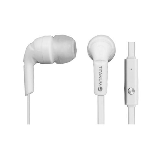 Ακουστικά με Μικρόφωνο Handsfree Esperanza TH109K 3.5mm Titanum Λευκό