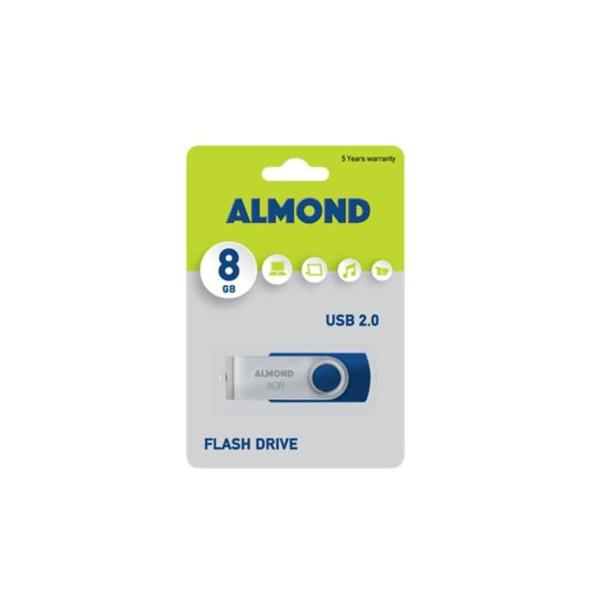 ALMOND Flash Drive USB 8GB Twister Μπλε