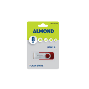 ALMOND Flash Drive USB 8GB Twister Κόκκινο