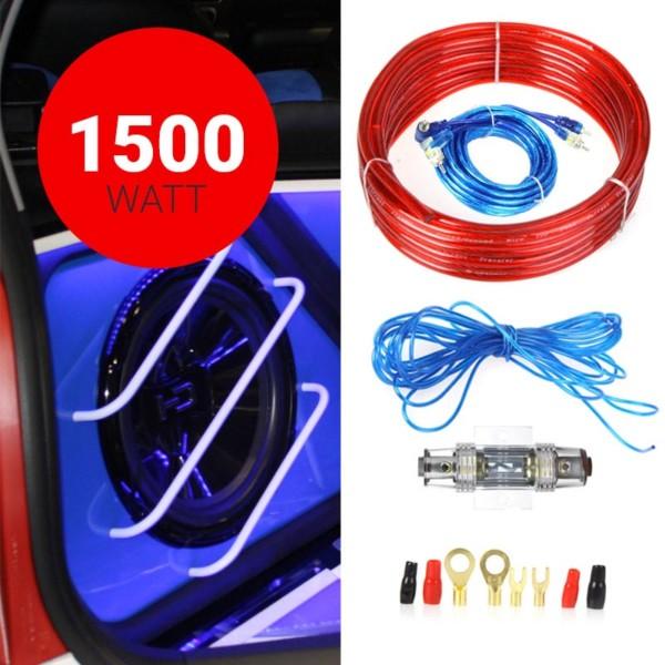 Κιτ καλωδίωσης ενισχυτών αυτοκινήτου MJ-8 - 1500W