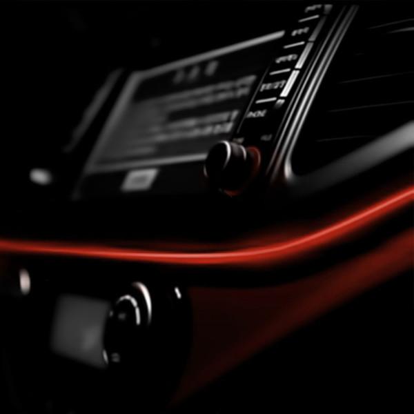 Εύκαμπτο LED καλώδιο 2m για την εσωτερική διακόσμηση κάθε αυτοκινήτου - El wire - Κόκκινο