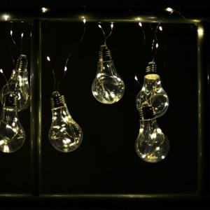 Διακοσμητική γιρλάντα με φωτάκια ρεύματος Led - (10 λαμπτήρες και καλώδιο χαλκού 3m)