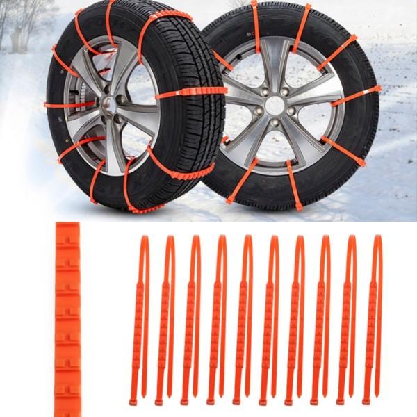 Universal επαναχρησιμοποιούμενες πλαστικές αλυσίδες χιονιού για το αυτοκίνητο - Σετ 10 τεμαχίων