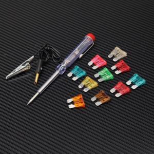 Σετ 10 ασφάλειες με δοκιμαστικό στυλό τάσης για αυτοκίνητο και μοτοσυκλέτα