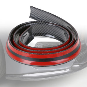 Universal lip σπόιλερ αυτοκινήτου με αυτοκόλλητο 1.5m - σε Carbon απόχρωση
