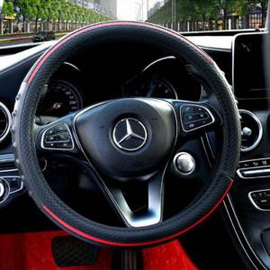 Κάλυμμα τιμονιού PU Φ38cm για το αυτοκίνητο - Κόκκινο